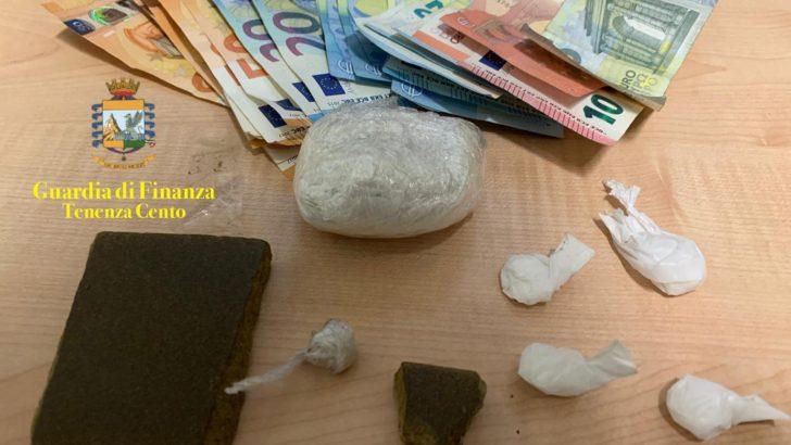 CENTO (FE) BRILLANTE OPERAZIONE ANTIDROGA PER LA TENENZA DELLA GUARDIA DI FINANZA DI CENTO: ARRESTATO UN PUSHER CON 70 GR DI DROGA!