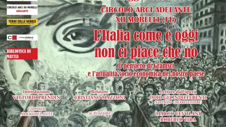 XII MORELLI DI CENTO (FE) SI PARLA DI GRAMSCI AL CIRCOLO CULTURALE ADELANTE !