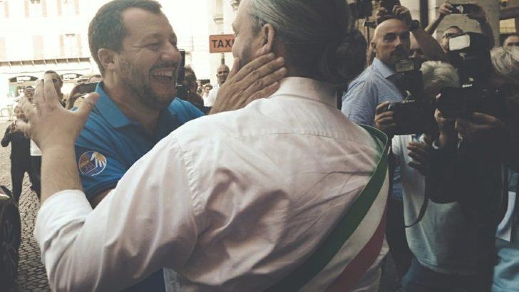 CENTO (FE) SOLD OUT PER IL MINISTRO MATTEO SALVINI NELLA CITTA' ESTENSE !